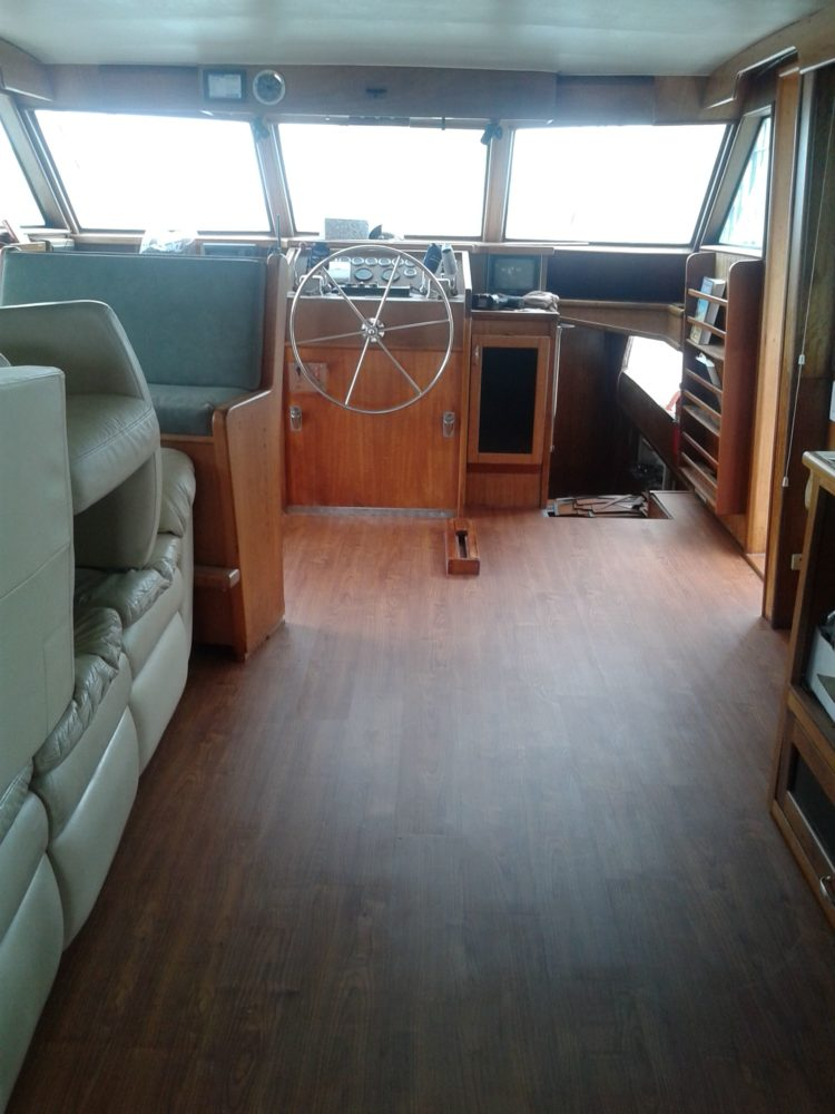Yacht that needed a new flooring inside installed by FLOORS4U, INC.