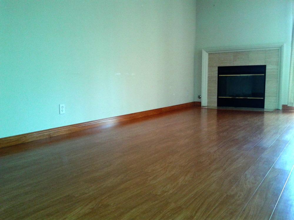 Installed Laminate floor after carpet removal, Walnut Creek.