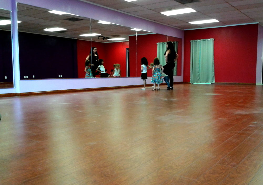 New laminate flooring installed by FLOORS4U for a dance studio in Walnut Creek.