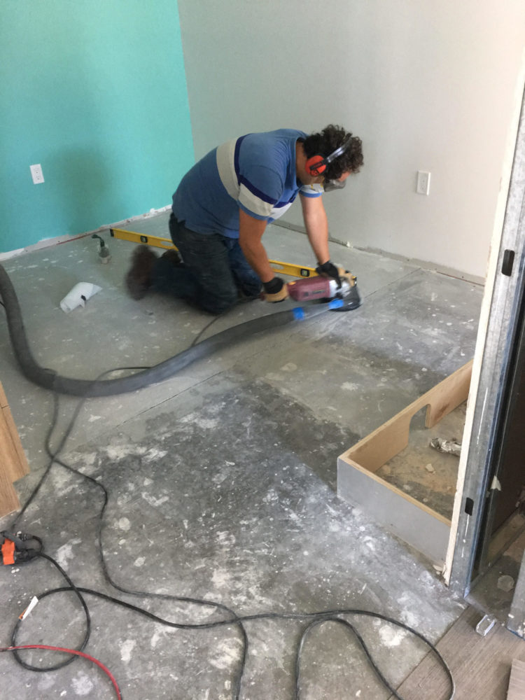 Leveling of Concrete floor in San Francisco.