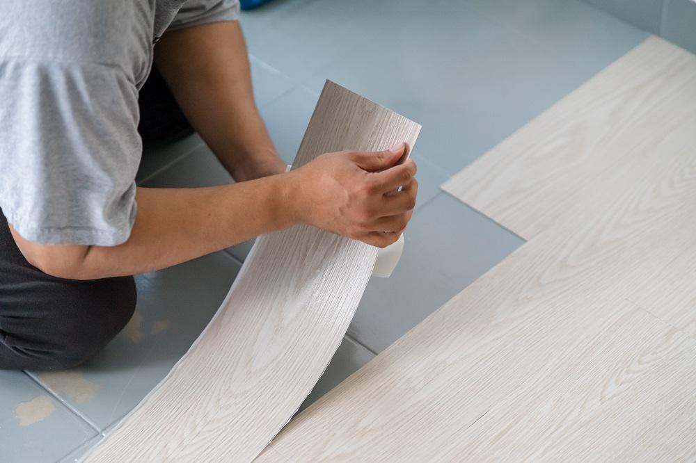 Installing White Faux Wood Vinyl Flooring